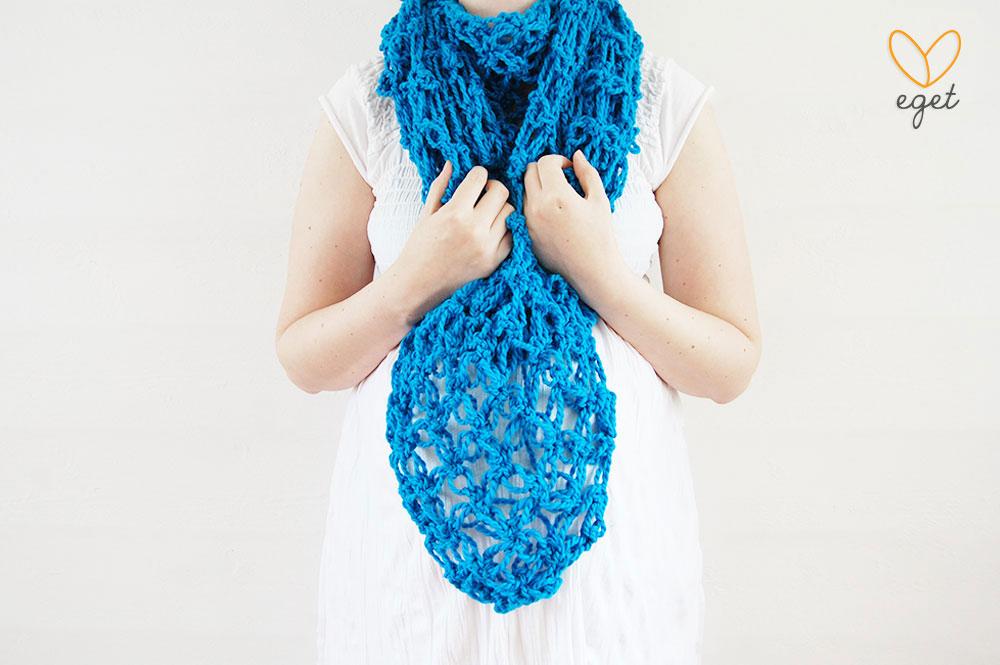 Simone - Färg: Turkos - Virkad sjal