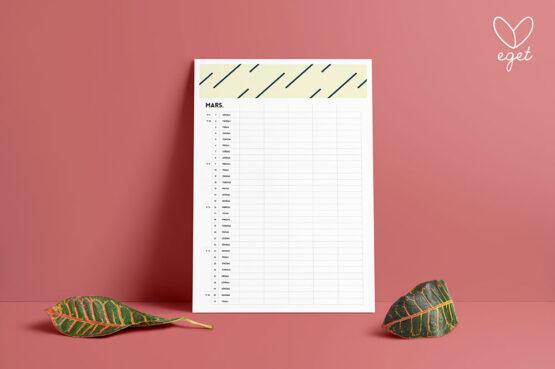 Familjekalender, kalender 2020 - Väggkalender