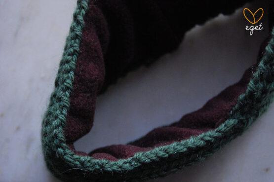 Stickat reflexpannband | Ronja - Stickat pannband med reflex