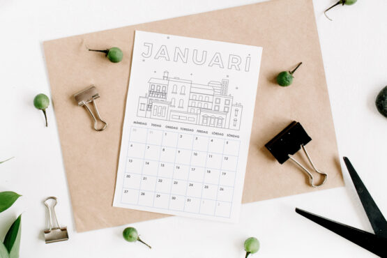 Ritkalender för 2020 | Måla kalender, för barn och vuxna
