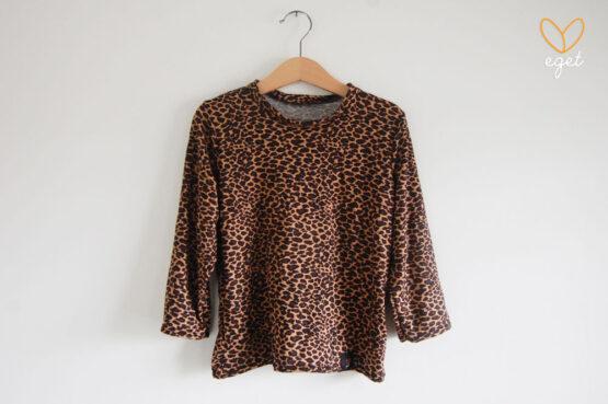 Tröja/t-shirt till barn - Torbjörn, barntröja, leopard, långärmad